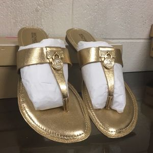 Michael Kors Hamilton Flat Metallic Leather